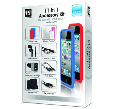 DreamGear ISOUND-1597 11 in 1 Accessory Kit for 4th Generation iPod Touch, NEW