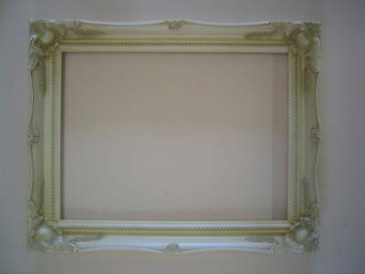 Ivory Shabby Chic Antique Style French Ornate Frame