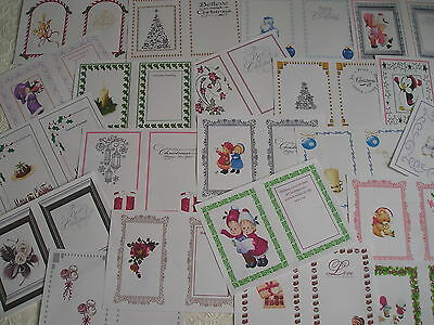 CHRISTMAS CARD INSERTS - assorted designs - A4 - Partycascades