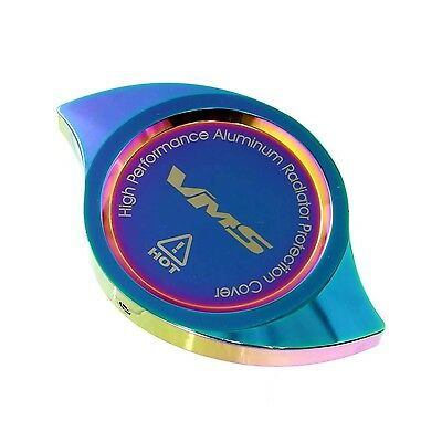 Vms Neo Chrome Anodized Billet Aluminum Radiator Cap Cover Machined Universal
