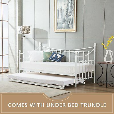 Glossy Vanilla Day Bed Versailles Cream With Without Trundle, Mattresses, New