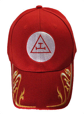 Royal Arch Mason with Gold Trim Hat Cap Embroidered in the USA 874RY-RED