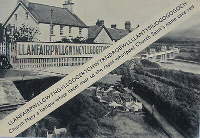 POSTCARD historical MEMORABILIA collector LLANFAIRPG longest PLACE name EUROPE