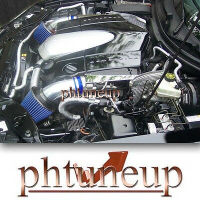 Blue 2004-2008 Chrysler Crossfire 3.2 3.2L Dual Twin Air Intake Kit Systems