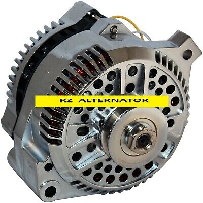 ALTERNATOR Fits FORD MUSTANG CHROME 1-WIRE  1965-1996 HIGH OUTPUT 160AMP NEW