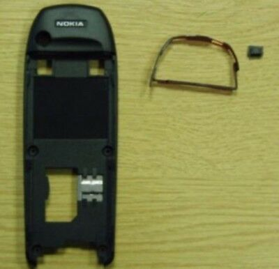 Genuine Nokia 6310i Black Chassis Rear Housing & Power Button Trim