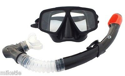 Frameless Mask & Dry Snorkel - Silicone Set WIL-DS-10R Snorkelling/Scuba Diving