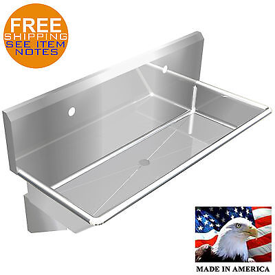 "Industrial 2 Users Multistation Wash Up Hand Sink 48"" Stainless Steel Heavy Duty"