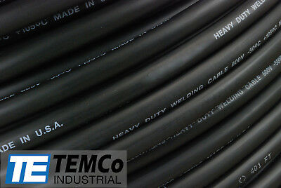WELDING CABLE 4/0 BLACK 25' FT BATTERY LEADS USA NEW Gauge Copper AWG