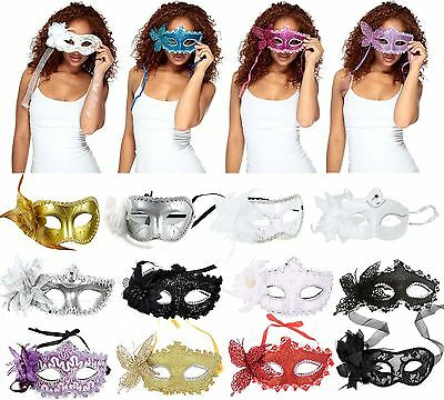 Venetian Costume Party Cosplay Masquerade Mask with Flower