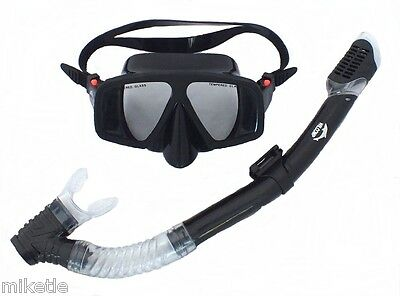 Frameless Mask & Dry Snorkel - Silicone Set WIL-DS-10B Snorkelling/Scuba Diving
