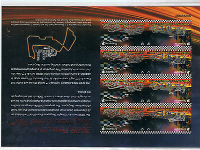 Singapore 2008 Formula 1 Serialized Imperforated M/S RARE