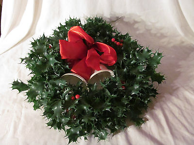 Vintage Christmas Wreath with White Bells