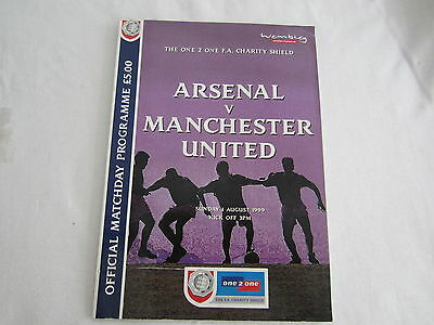1999  Charity Shield Arsenal  V Manchester United