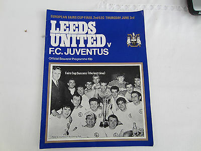 1971 LEEDS UNITED v   FC JUVENTUS INTER-CITIES CUP FINAL 2ND LEG