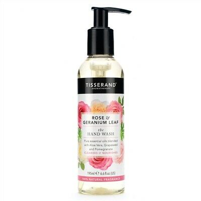 Tisserand Rose and Geranium Leaf Blend Gentle Hand Wash 195ml