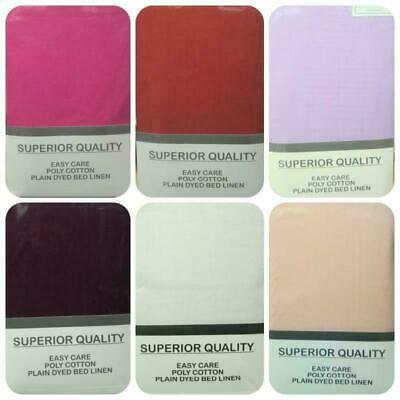 Easycare Percale Non Iron Superking Size Fitted Sheets Choice Of 6 Colours