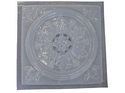 Roman Floral Flower Stepping Stone Concrete Plaster Mold 1065 Moldcreations