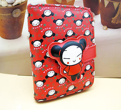 New Tri-Fold Japanese Pucca Vinyl Wallet / Purse With Sakura Flowers