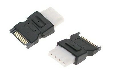 SATA 15 Pin Male Power Connecter to 4 pin Molex Female Adapter Converter Changer