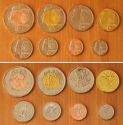 NETHERLANDS Bonaire Coins Set of 8 Pieces 2011, Fantasy Coinage