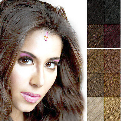 """Synthetic Heat Resistant Single Piece 18"""" Clip in Hair Extension 15 Colours-UK"""