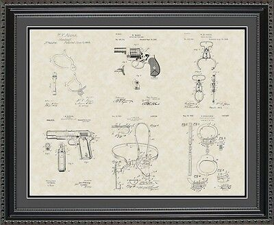 Patent Art Poster - Police & Detective Equipment - Policeman Chief Gift PPOLI