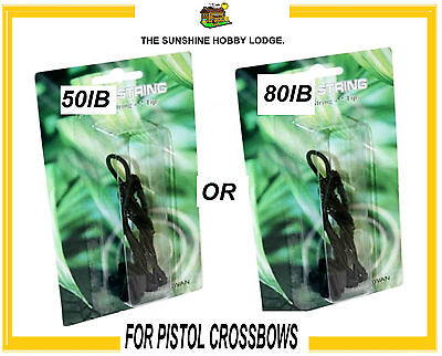 Pistol Crossbow String 80lb Or 50lb Including 2 Plastic Crossbow Limb Tips New