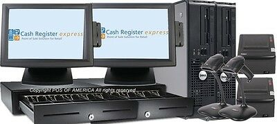 PCAMERICA POS System CRE Cash Register Express 2Retail Supermarket Stations  NEW