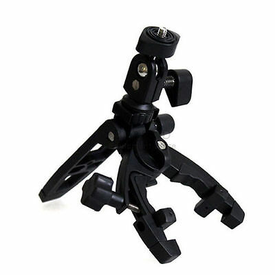 "Portable Mini Tripod 1/4"" Mount Multi-function Clamp for Camera Camcorder DSLR"