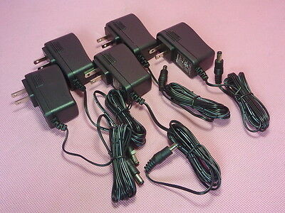 Lot of 5 New WESTELL 12V 1A 2.1-2.5mm PIN 120v AC adapter for routers