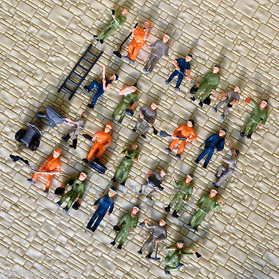 75 pcs HO scale 1:87 well Painted Railway Workers / Figures ( 25 poses)