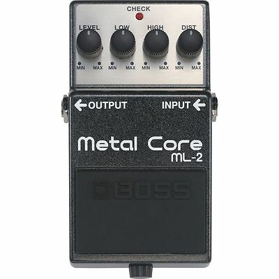 Boss ML-2 Metal Core Distortion Pedal Low and High settings, Metal Case