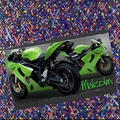 Personalised Kawasaki Bike Wallet 2 options, add a Name - Christmas Gift for HIM