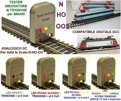 KATO TESTER a LED TRACK-VOLTAGE TENSIONE BINARI DC e DCC DIGITALE SCALA: N HO OO
