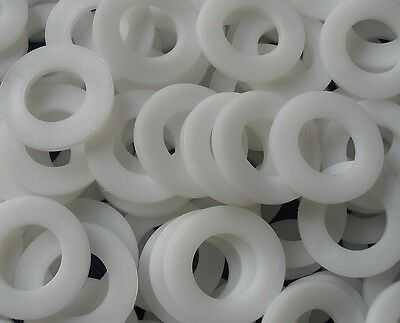 Nylon Washer Spacers Natural White New M2 M2.5 M3 M3.5 M4 M5 M6 M8 M10 M12