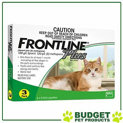 EXP: 09/2018 - Frontline Plus For Cats 3 pack