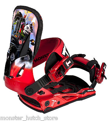 BRAND NEW IN BOX Technine LUCAS MAGOON MONSTER Snowboard Binding RED MEDIUM RARE