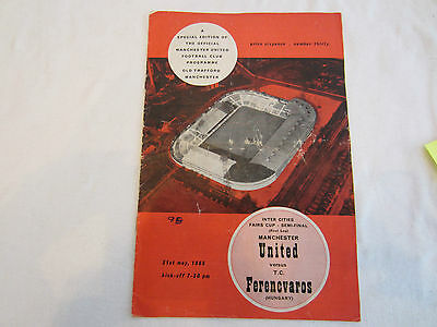 1964-5 MANCHESTER UNITED v FERENCVAROS INTER-CITIES CUP SEMI-FINAL 1ST LEG