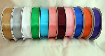 Double sided satin ribbon 25mm wide x 5 metres   Choose colour