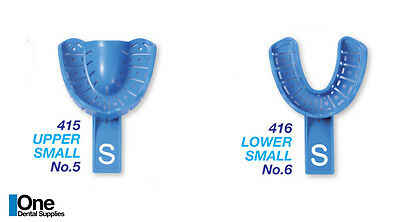 Disposable Dental Impression Trays With Rim Lock Small Upper and Lower 200 pcs