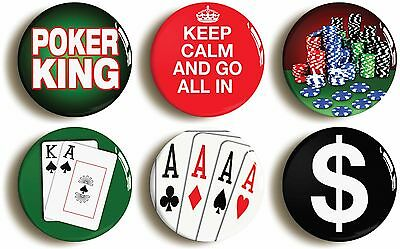 ACE OF CLUBS 1 inch 25mm Button Badge Novelty Cute Poker Bridge