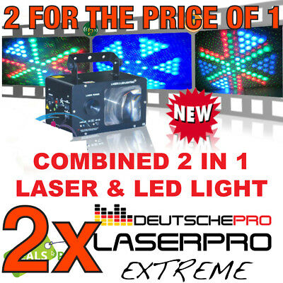 LASERPRO EXTREME Combined LED AND LASER Effect Disco Party DJ Light Moonflower