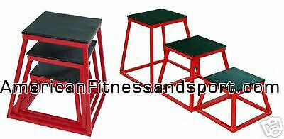 "NEW YORK BARBELL FITNESS SET OF 3 PLYOMETRIC BOXES SET OF 12"" 18"" 24"" *NEW*"