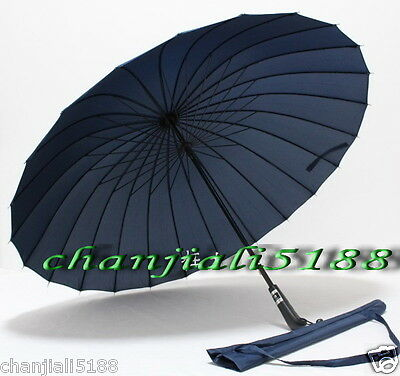 4 color 24 super big skeleton wind-resistant the clear umbrellas (large)