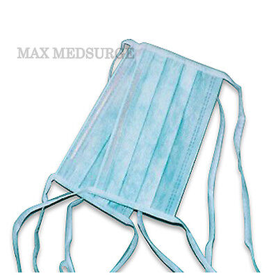 25x DISPOSABLE SURGICAL TIE ON face MASK Salon Dust Cleaning Flu Medical CE Mark