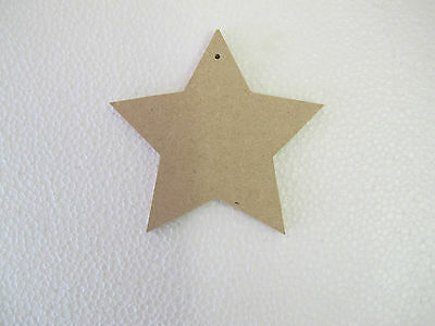 MDF Star Shapes Set Of 2 with holes
