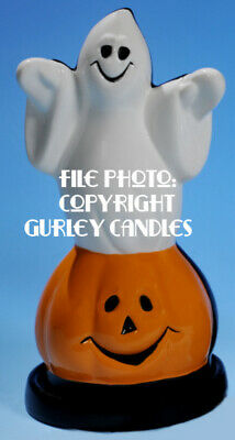 """Gurley """"Saf-T-Glo""""  Candle Lamp - Ghost in Jack O' Lantern"""