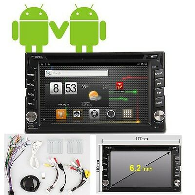 "Android 2-DIN HD In-Dash Car DVD Player Head Unit GPS NAV+7"" CAR PC 3G WiFi"