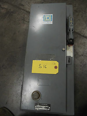 Square D Combo Box Size 0 Starter w/30amp Fusible Disconnect  #516